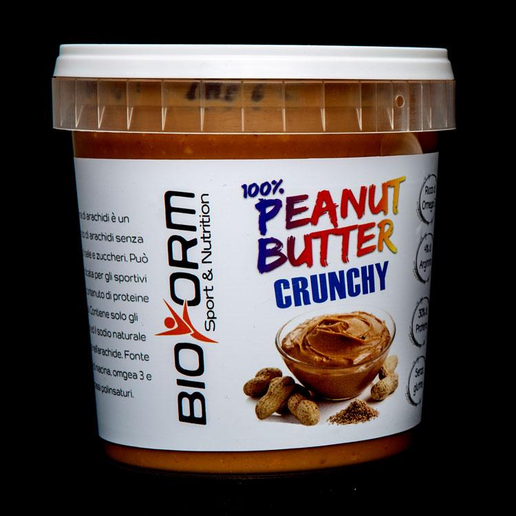 Burro di arachidi gusto crunchy bioform